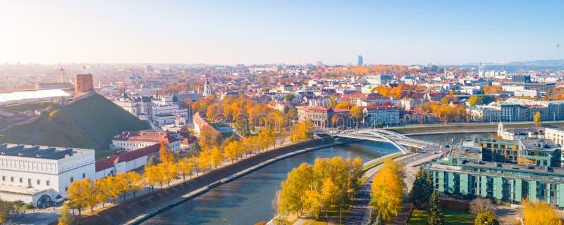 Aerial view of Vilnius city, Lithuania stock photo