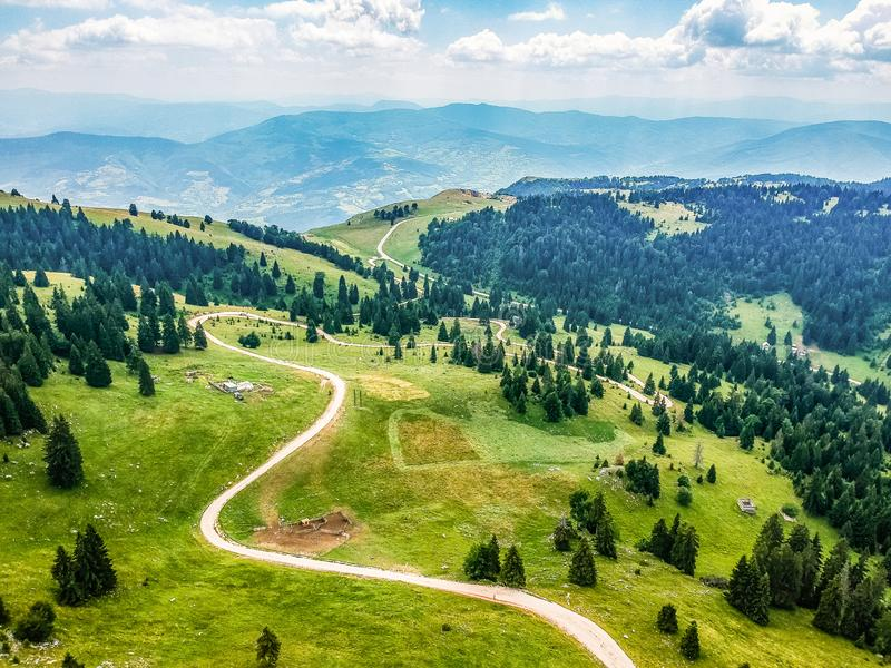 Aerial view on Vlasic mountain in Bosnia and Herzegovina. Aerial view on Vlasic mountain in Bosnia and Herzegovina stock image