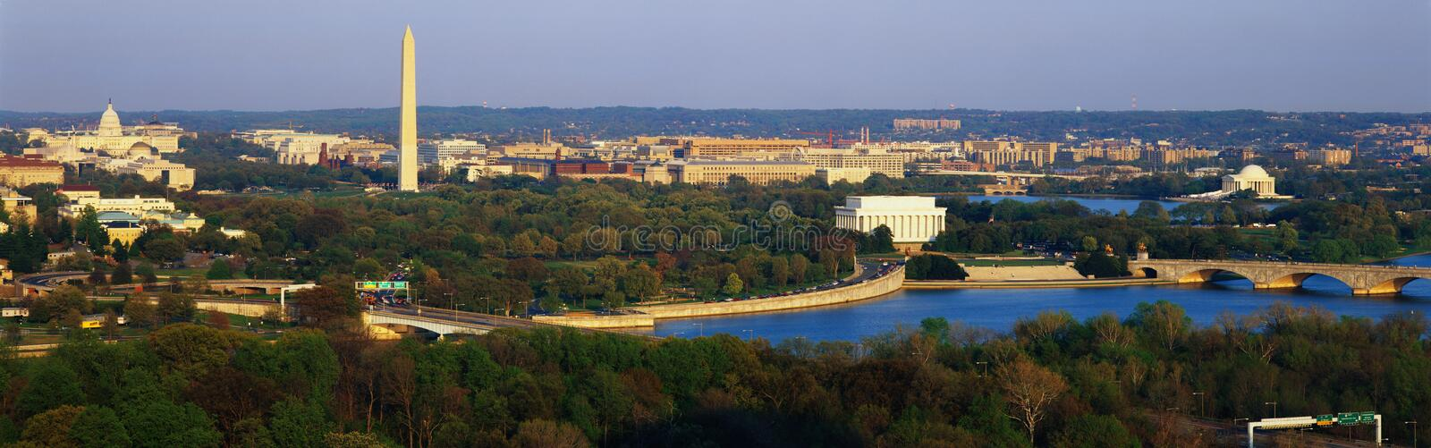 Aerial view of Washington royalty free stock images
