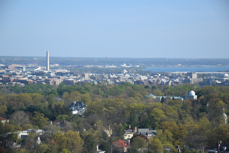 Aerial view of Washington DC stock image