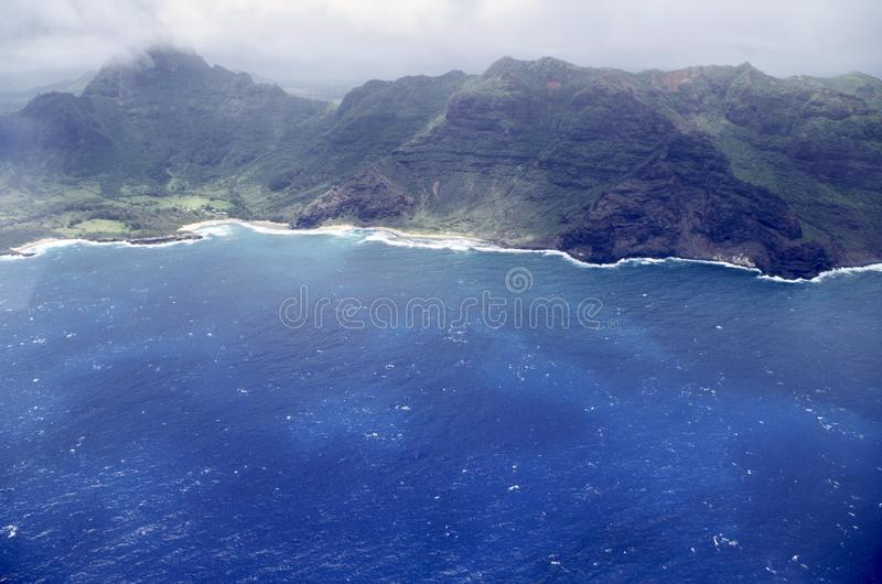 Na Pali Coastline, Kauai, Hawaii, USA stock photography