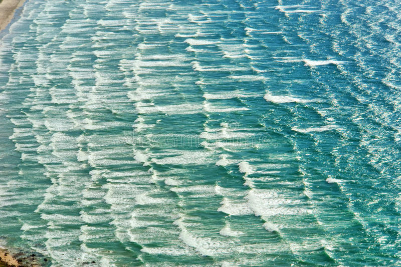 Aerial view at waves royalty free stock image