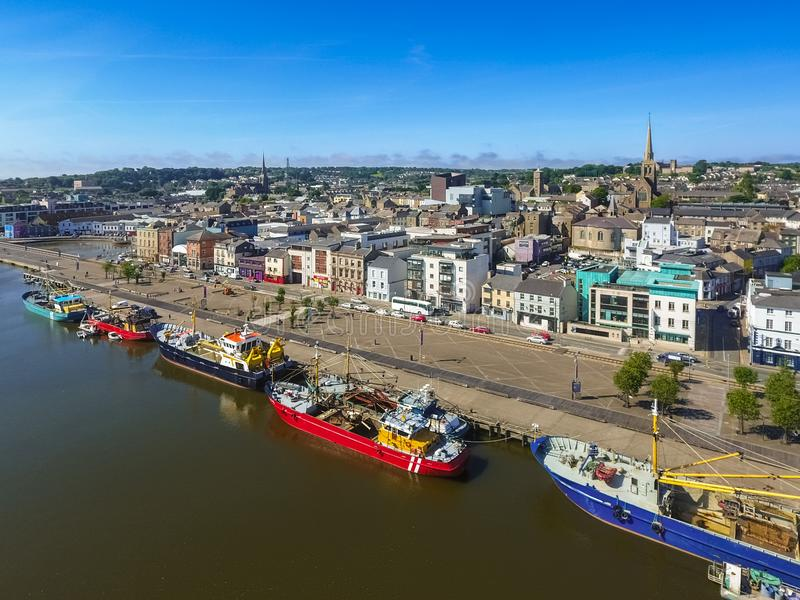Aerial view. Wexford town. co Wexford. Ireland stock photography