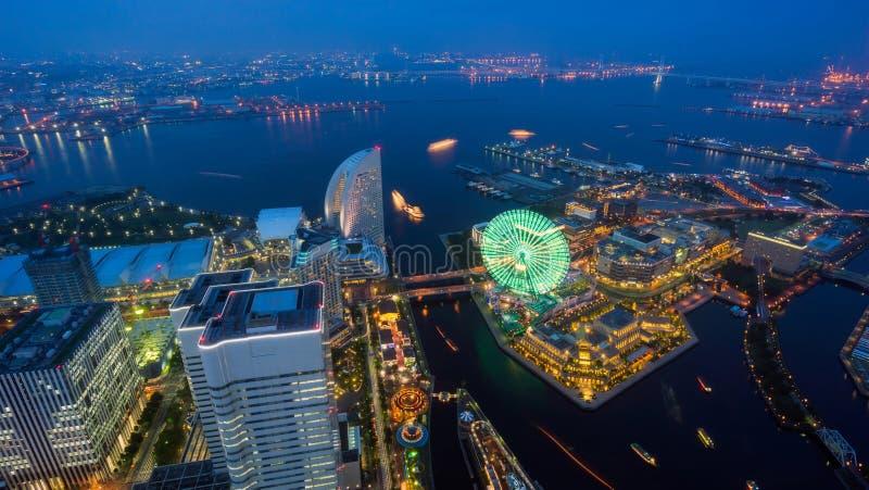 Aerial view of Yokohama city royalty free stock image