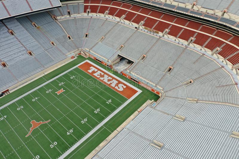 Aerial Views Of Darrell K Royal-Texas Memorial Stadium On The Campus Of The University Of Texas stock photos