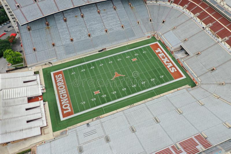Aerial Views Of Darrell K Royal-Texas Memorial Stadium On The Campus Of The University Of Texas royalty free stock images