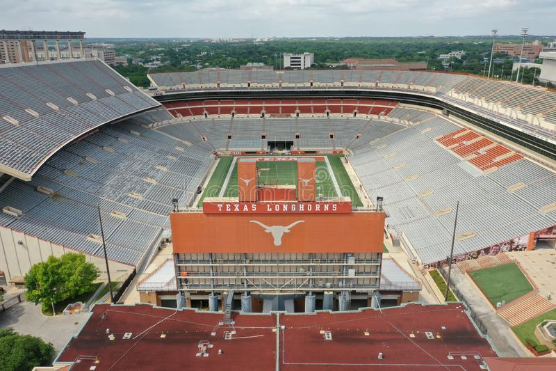 Aerial Views Of Darrell K Royal-Texas Memorial Stadium On The Campus Of The University Of Texas stock images