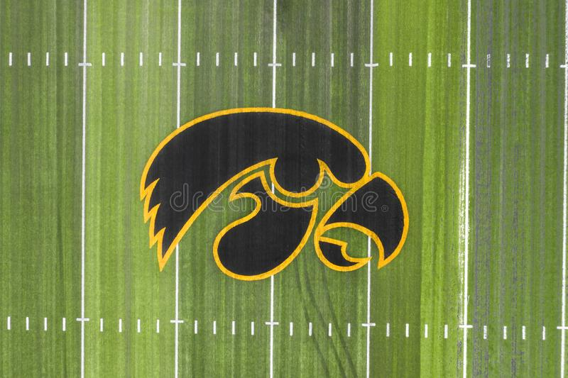 Aerial Views Of Kinnick Stadium On The Campus Of The University Of Iowa royalty free stock images