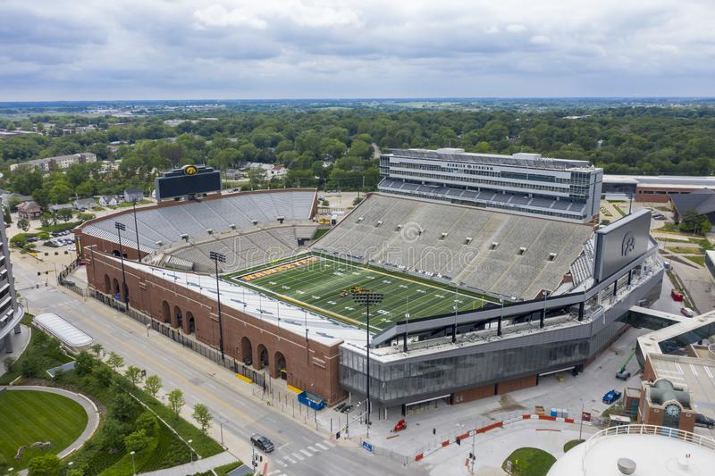 Aerial Views Of Kinnick Stadium On The Campus Of The University Of Iowa royalty free stock photography