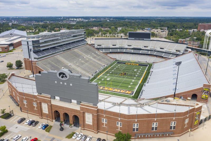 Aerial Views Of Kinnick Stadium On The Campus Of The University Of Iowa stock photos
