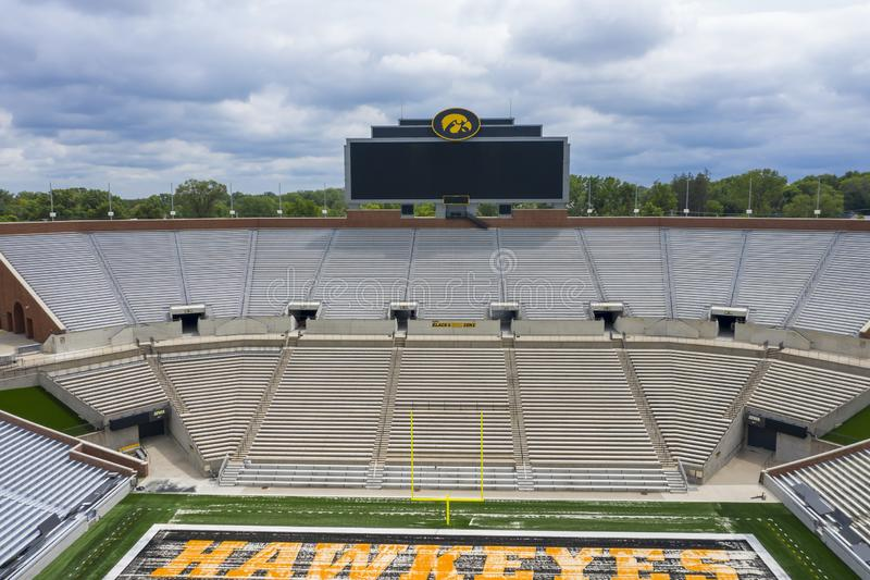 Aerial Views Of Kinnick Stadium On The Campus Of The University Of Iowa royalty free stock photos