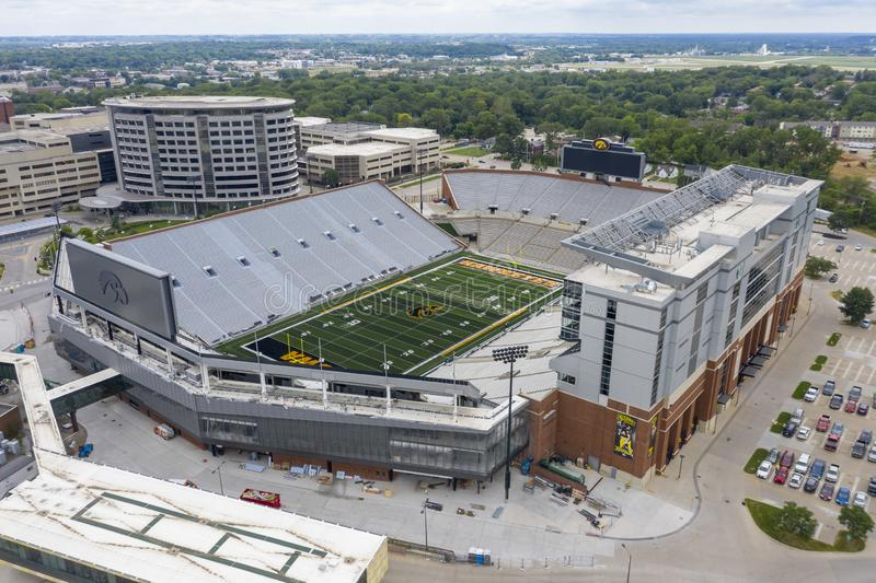 Aerial Views Of Kinnick Stadium On The Campus Of The University Of Iowa royalty free stock image