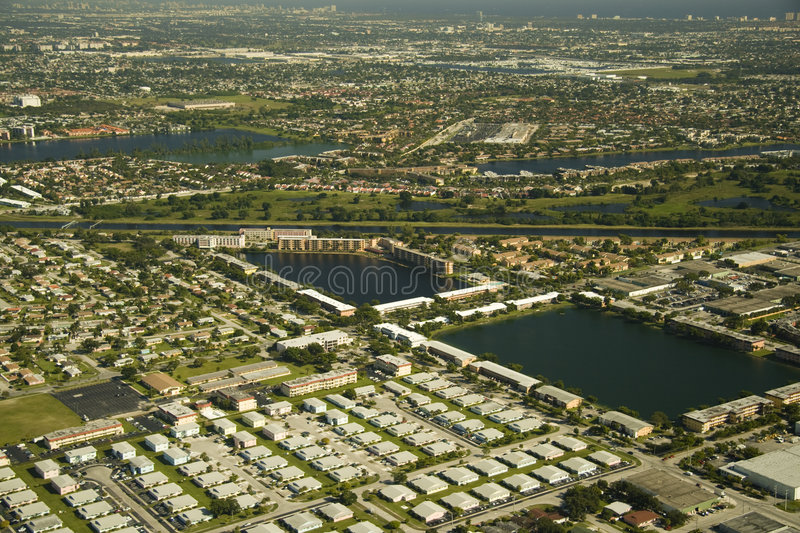 Aerial view on Miami royalty free stock image