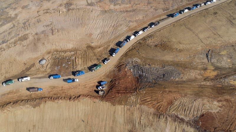Aerial Views Of A Municipal Trash Dump royalty free stock photo