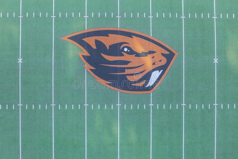 Aerial Views Of Reser Stadium On The Campus Of Oregon State Univ. October 13, 2018 - Corvallis, Oregon, USA: Reser Stadium is an outdoor athletic stadium in the royalty free stock photo
