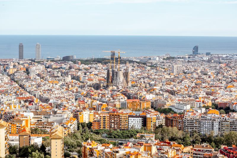 Barcelona city view royalty free stock image