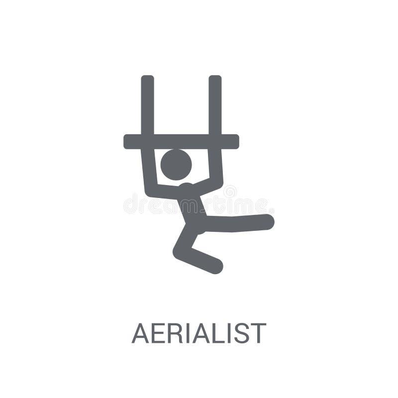 Aerialistsymbol  royaltyfri illustrationer