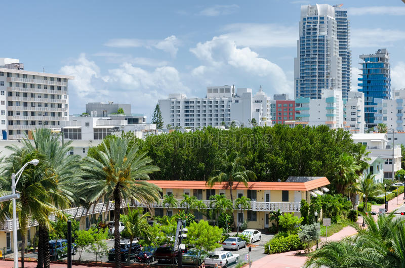 Aerialview del sud di Miami Beach immagine stock libera da diritti