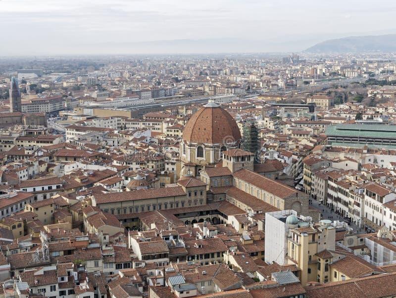 Aerialview di Firenze fotografia stock libera da diritti