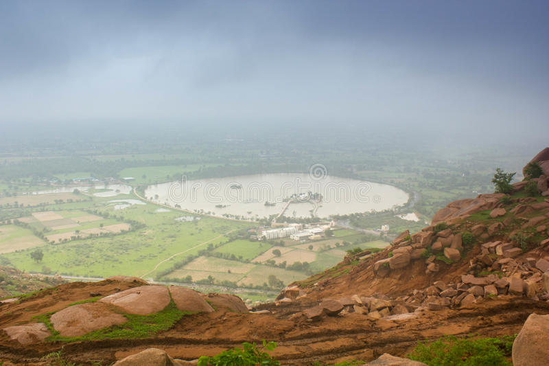 Aeriel view of Lake. Exotic Aeriel view of lake from Idar mountain royalty free stock photography