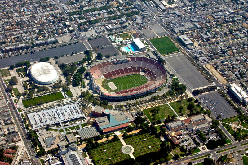 Aeriel View of Stadium stock photos