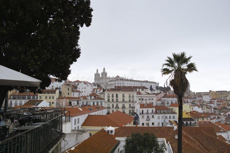 Aerielview de Lisbonne photos stock