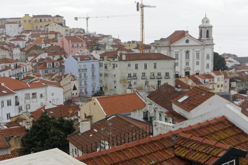 Aerielview de Lisbonne image stock