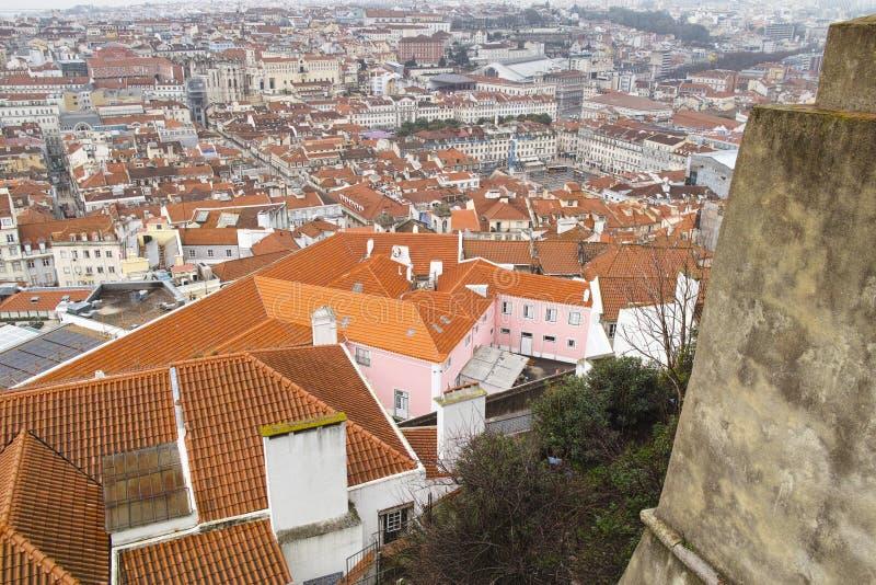 Aerielview de Lisbonne photographie stock
