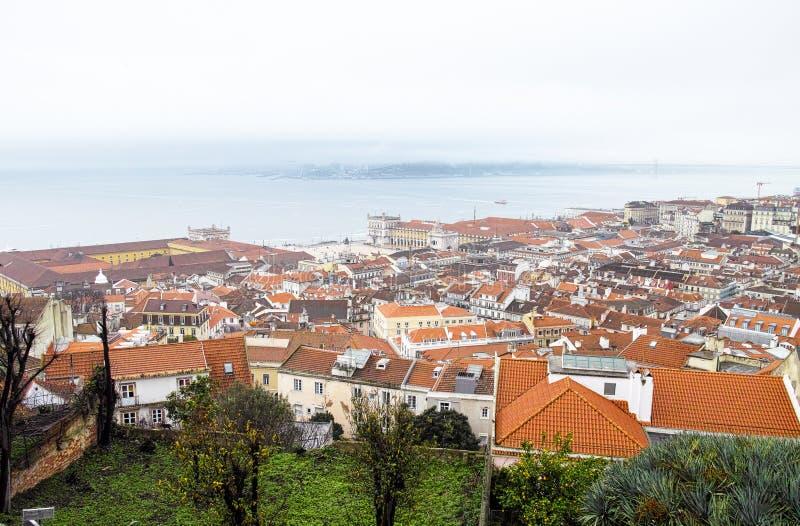 Aerielview de Lisbonne photo stock