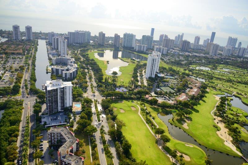 Aerila sikt i Miami royaltyfria bilder