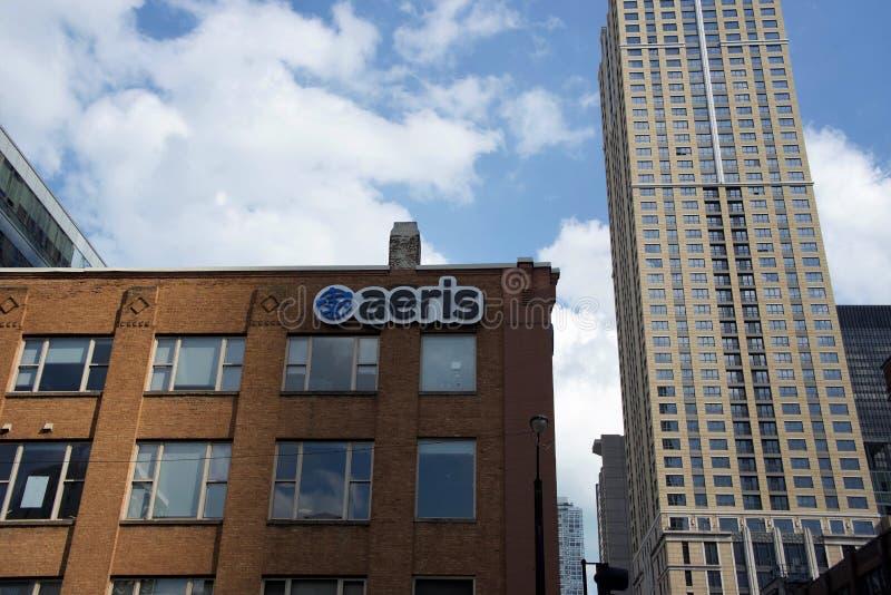 Aeris Coimmunications,芝加哥,伊利诺伊 免版税库存照片