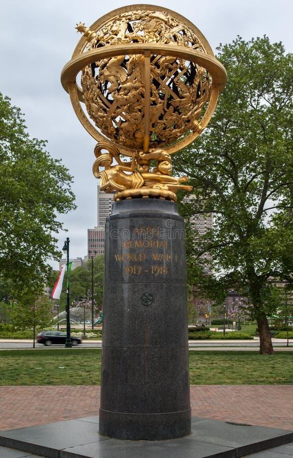 Aero- círculo conmemorativo Philadelphia de Logan imagen de archivo libre de regalías