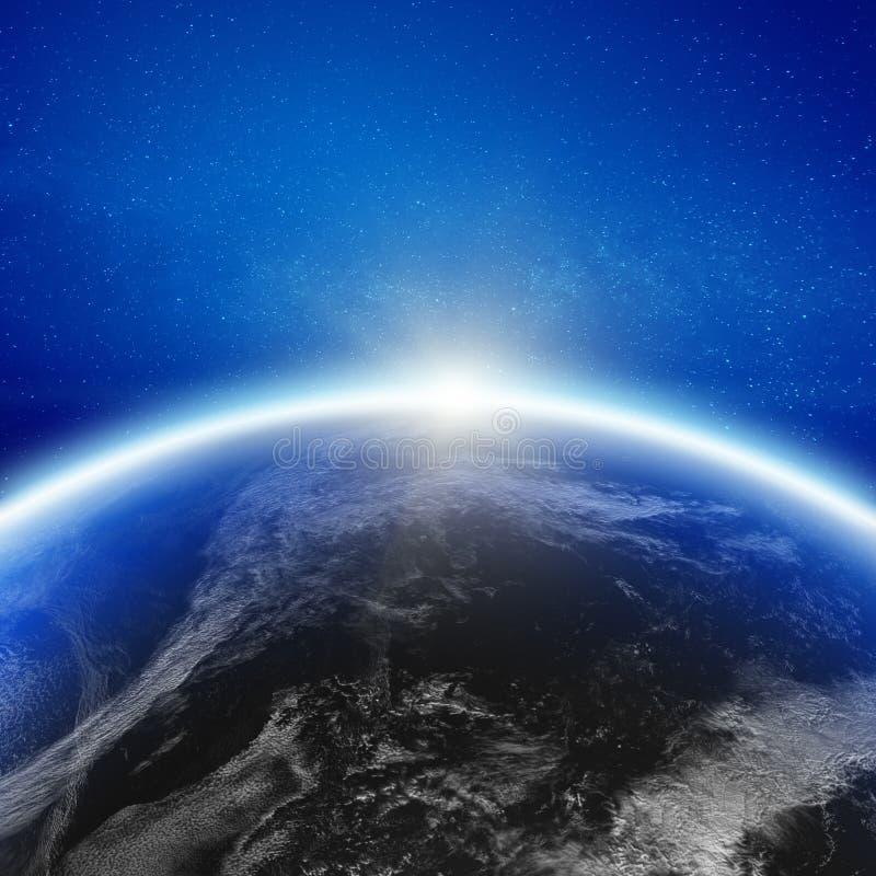 Aero- horizonte de la tierra del planeta del espacio fotografía de archivo