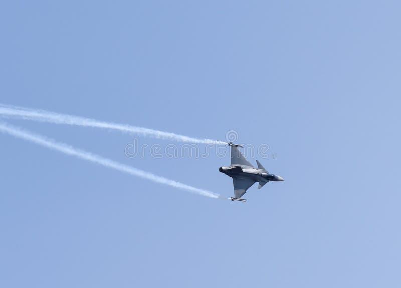 Aero India toont stock afbeelding