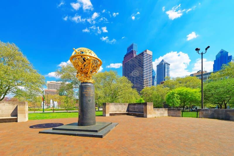 Aero- monumento en el aviador Park en el PA de Philadelphia imagen de archivo libre de regalías
