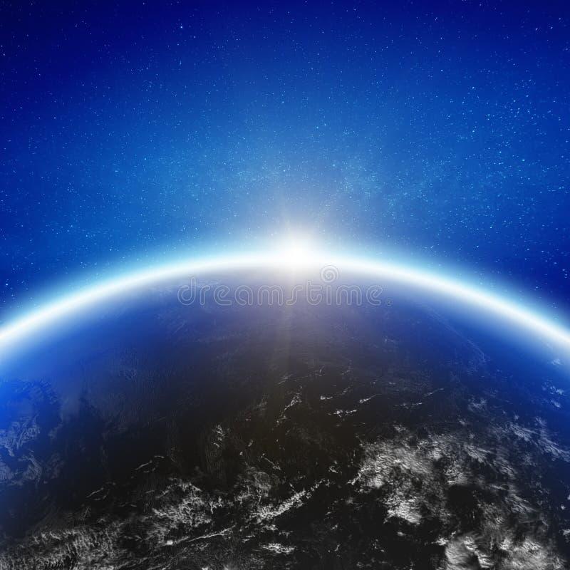 Aero space planet Earth horizon royalty free stock photography