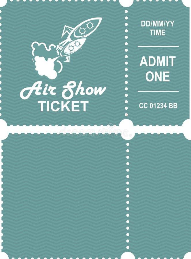 Aero toont kaartje vector illustratie