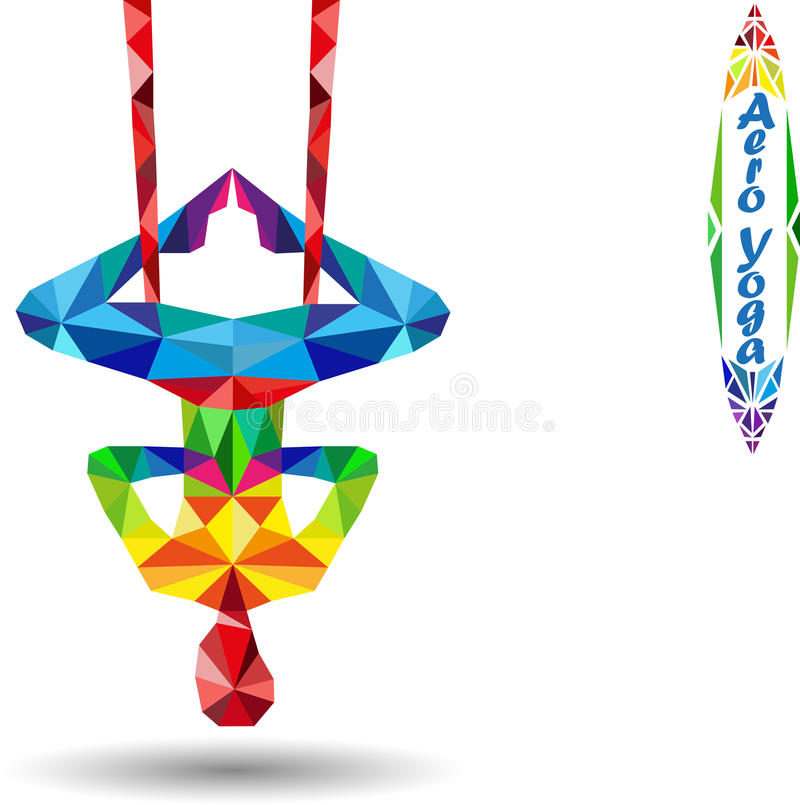 Aero Yoga vektor abbildung