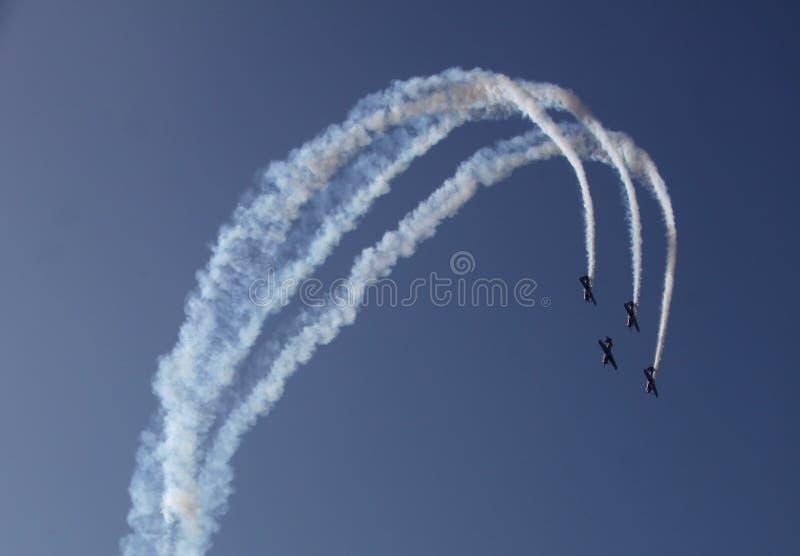 Aerobatic fotografering för bildbyråer