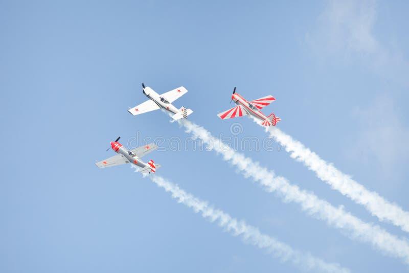Aerobatic airplanes royalty free stock photos