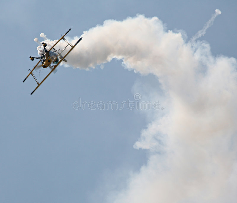 Aerobatic biplane stock photos