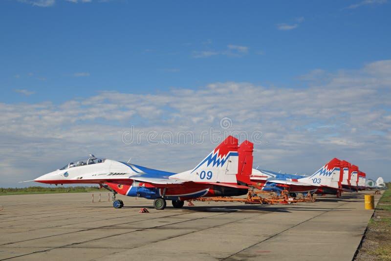 Aerobatic drużynowi jerzyki zdjęcie royalty free