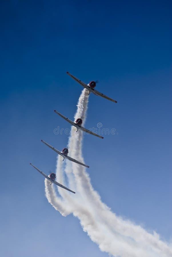 aerobatic lag för castrolflygharvard lions arkivfoton