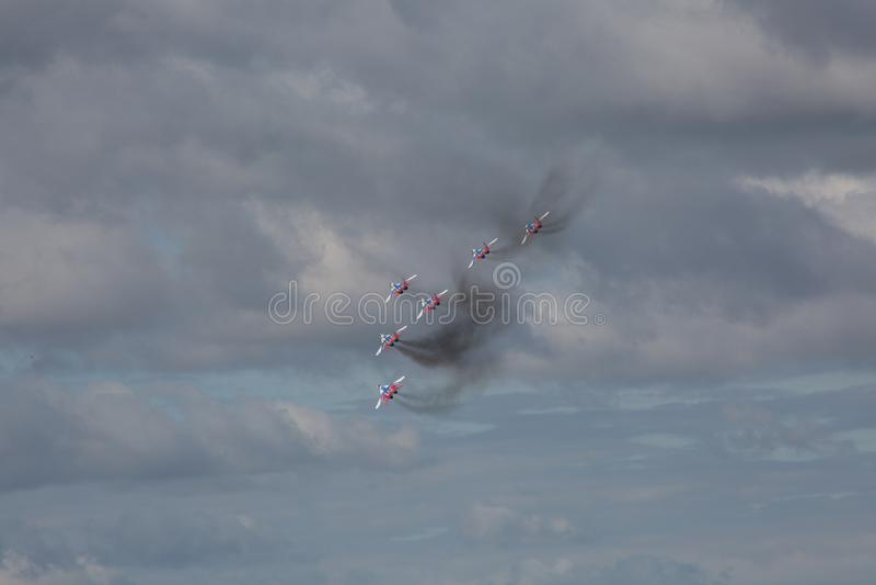 Aerobatic lag Swifts royaltyfri fotografi