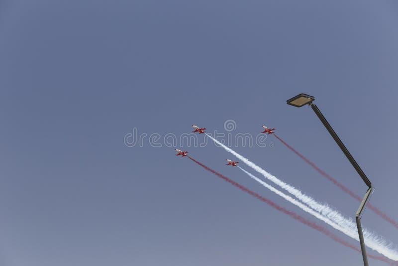 Aerobatic lag Turk Yildizlari för turk i himlen royaltyfria bilder