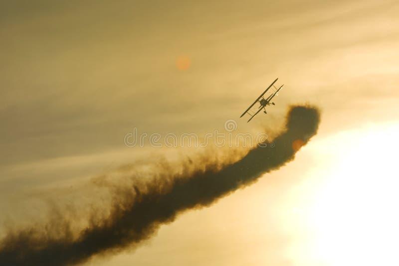 Aerobatic stearman stock photography