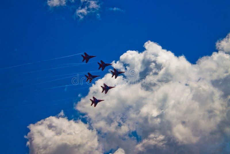 Aerobatic Team ` Swifts-` ` Strizhi-` stockbild