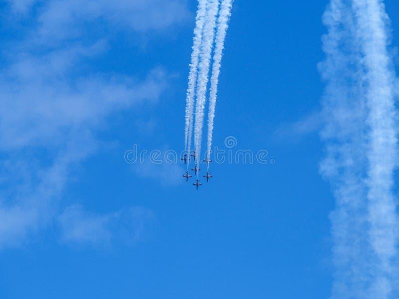 Aerobatic toont royalty-vrije stock foto's