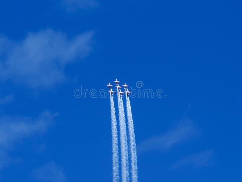 Aerobatic toont royalty-vrije stock fotografie