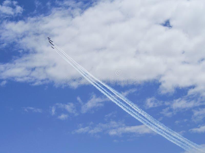 Aerobatic toont stock fotografie